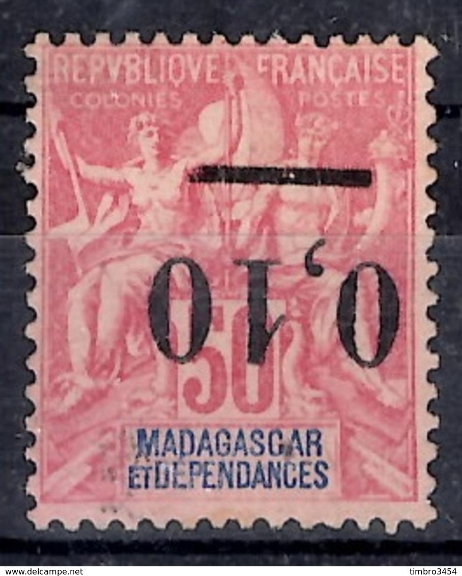 Madagascar Variété Maury N° 53d Surcharge Renversée Neuf (*). B/TB. A Saisir! - Madagascar (1889-1960)
