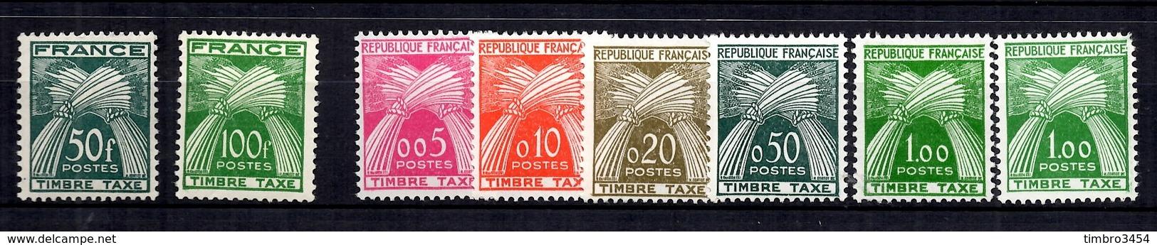 France Timbres Taxe YT N° 88/89 Et 90/94 Neufs ** MNH. TB. A Saisir! - Taxes