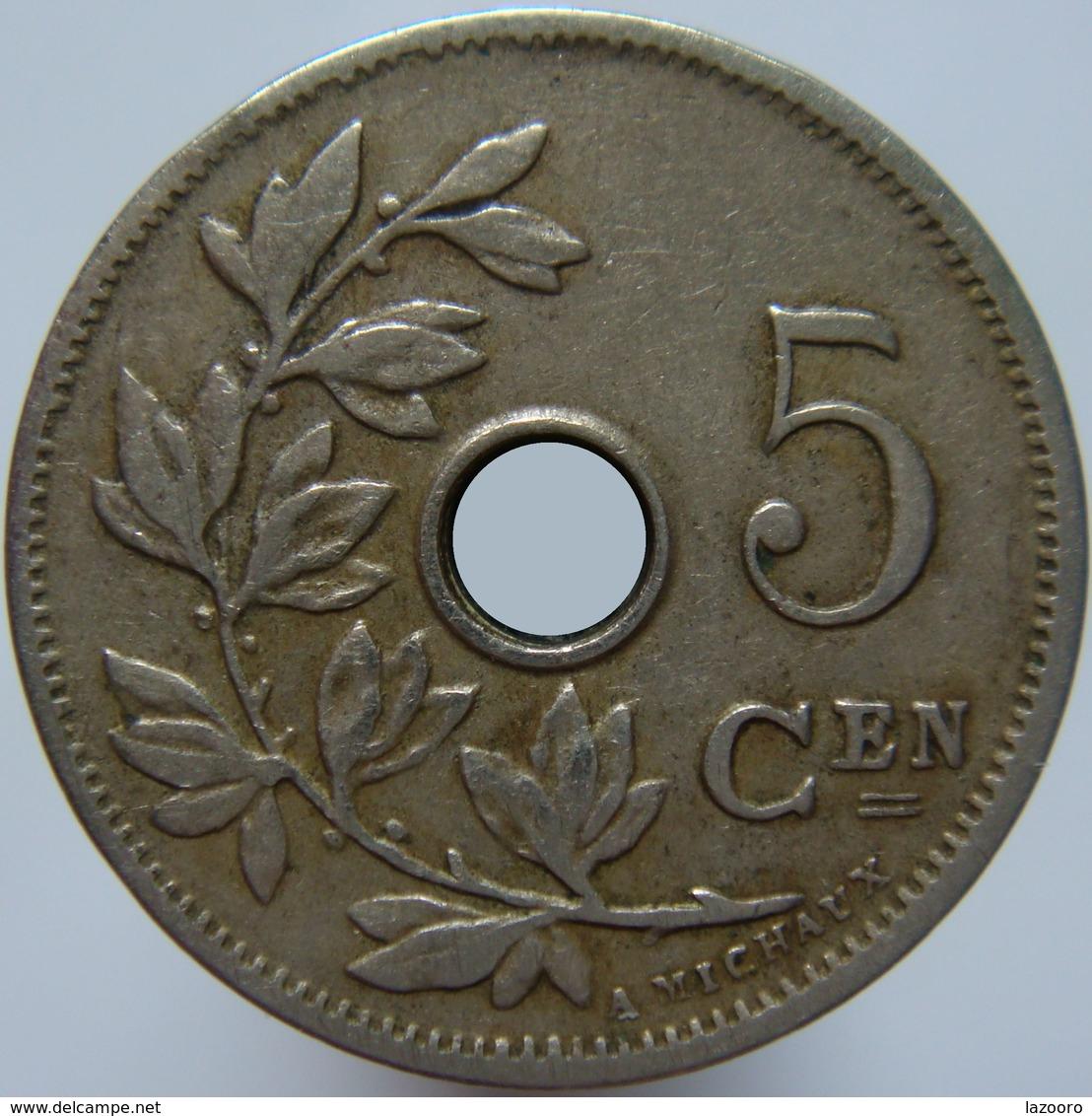 Belgium 5 Centimes 1906 - No Cross - 1865-1909: Leopold II