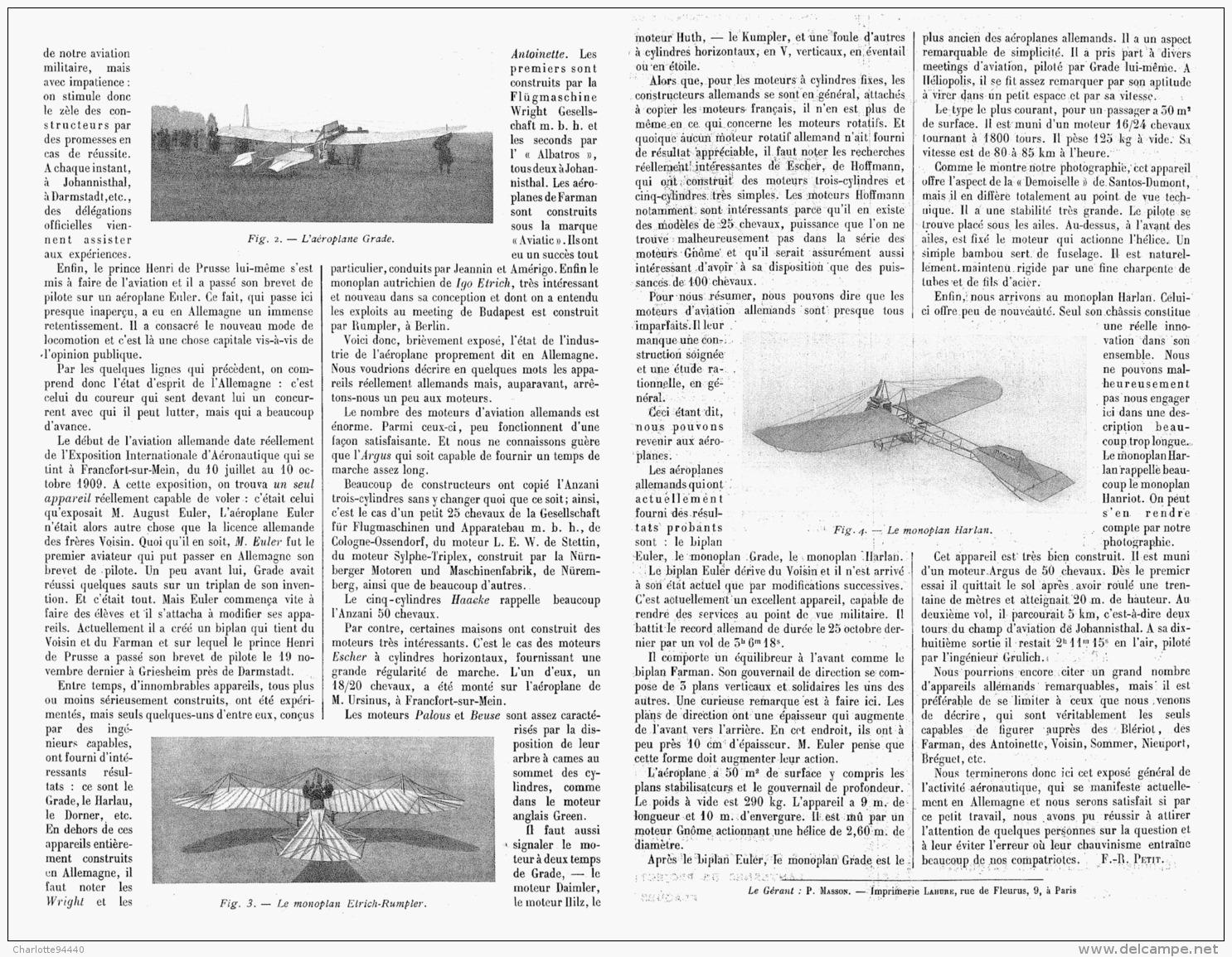 L'ALLEMAGNE Et L'AVIATION   1911 - Transportation
