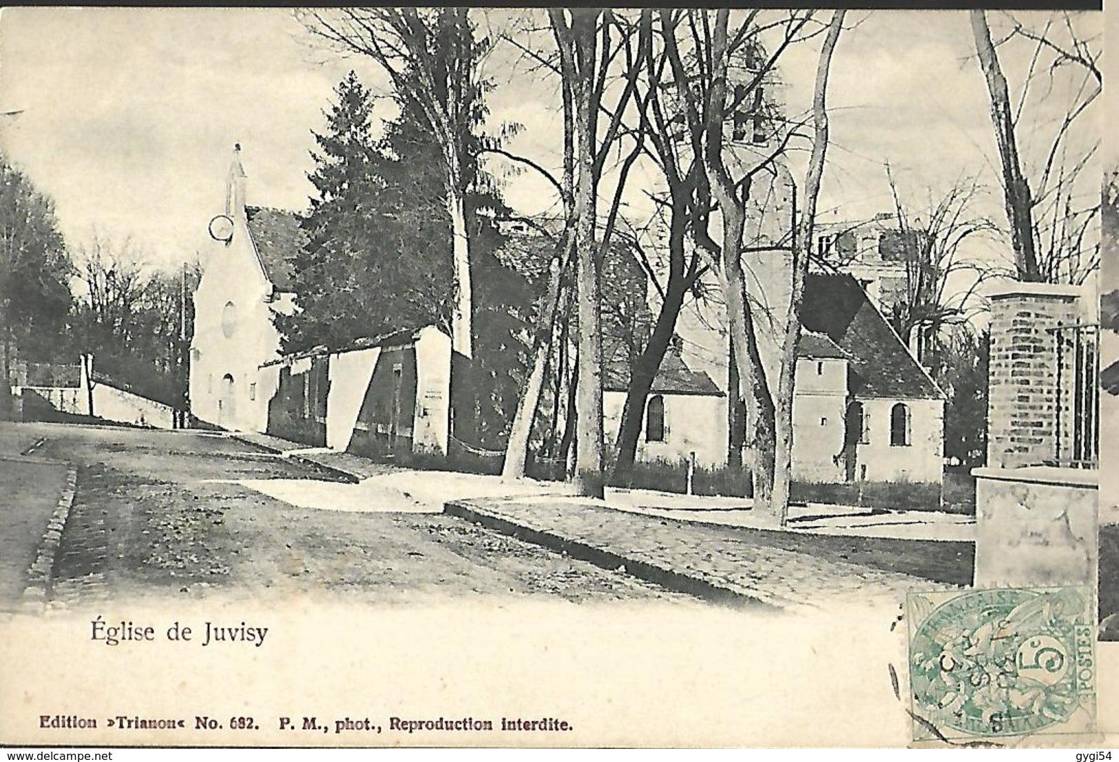 Eglise De Juvisy Cpa 1903 - Manifestations