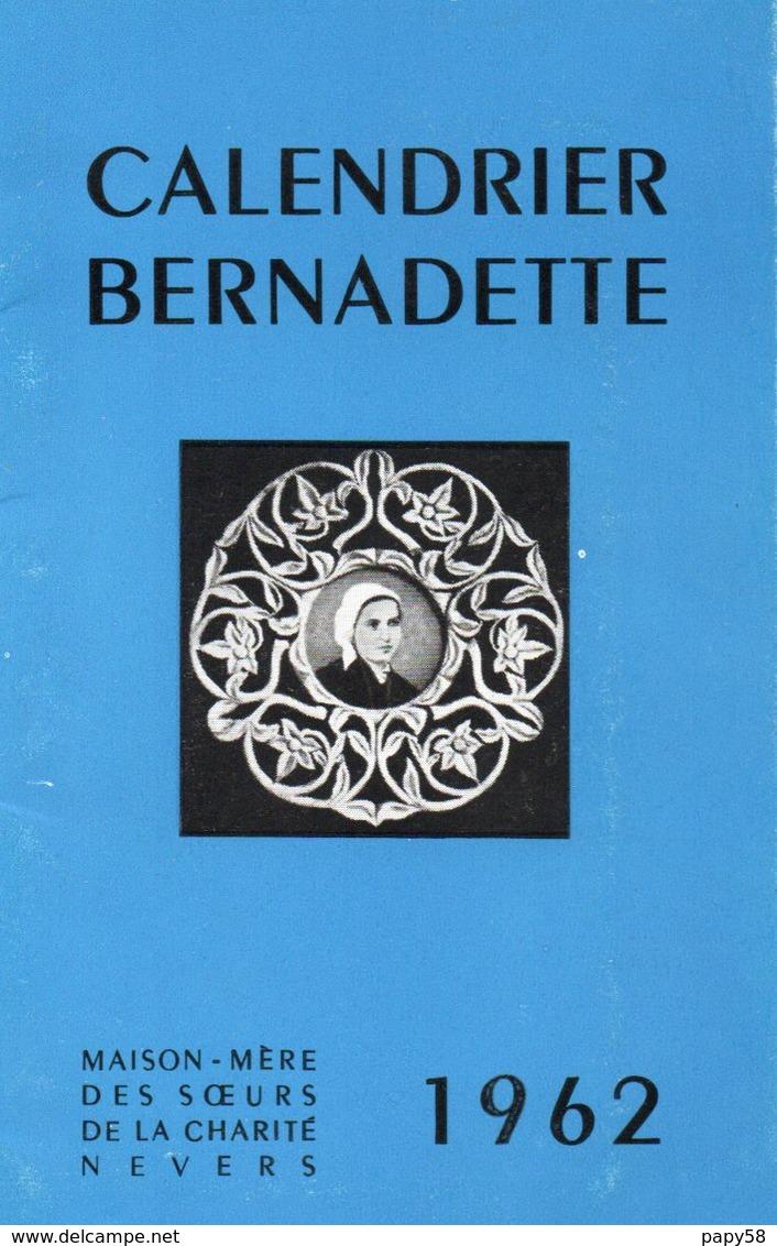 Calendriers > Petit Format : 1961-70 Bernadette Maison Mère Des Soeurs De La Charité De Nevers - Calendriers