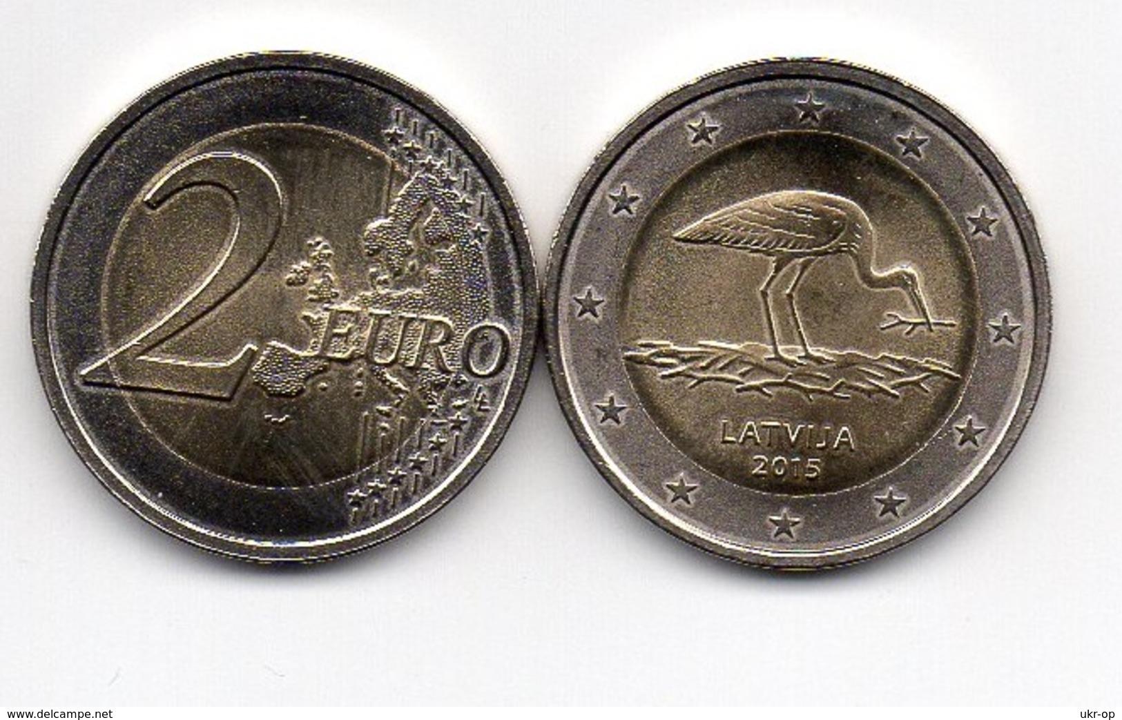 Latvia - 5 Pcs X 2 Euro 2015 UNC Stork Ukr-OP - Latvia