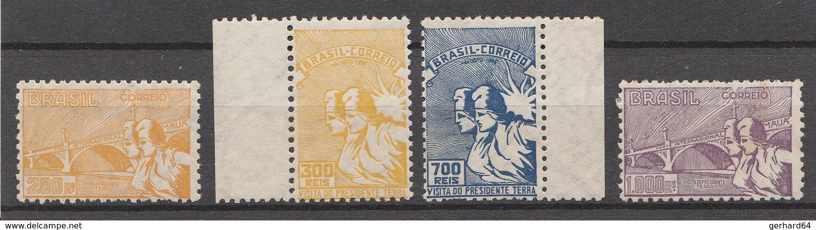 BRESIL 1935 - Yvert N° 279 à 282 - Série Complète ** Et * - 4 Valeurs (Visita Do Presidente Terra) - Brazil