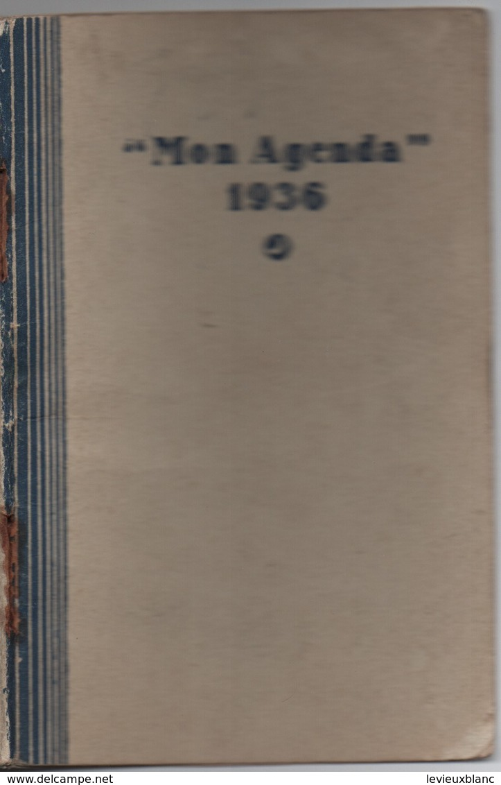 Ameublement/Petit Agenda Ancien / Mon Agenda / Confiance Meubles/ Rue CROZATIER/ Paris // 1936         CAL411 - Kalenders