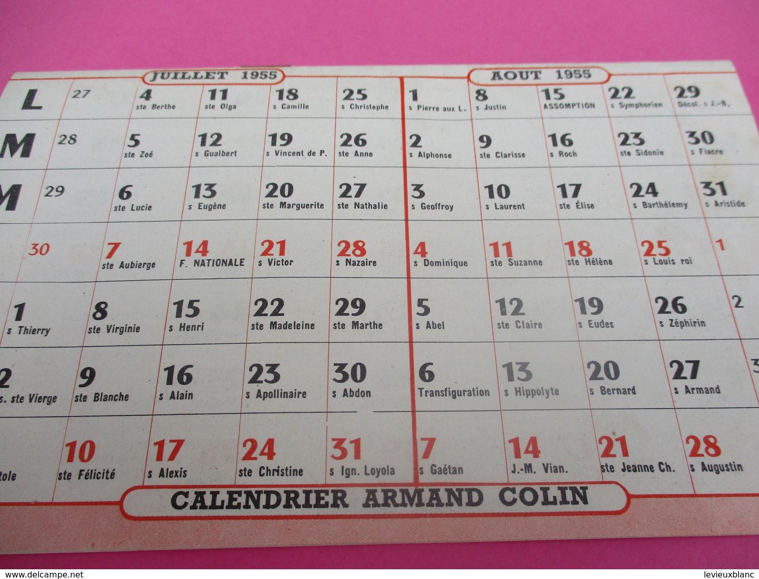 Education/Armand Colin/Calendrier Scolaire 1954-1955/L'Ecole Et La Vie/Paris/Conseils Aux Instituteurs/1954-55  CAL412 - Calendriers