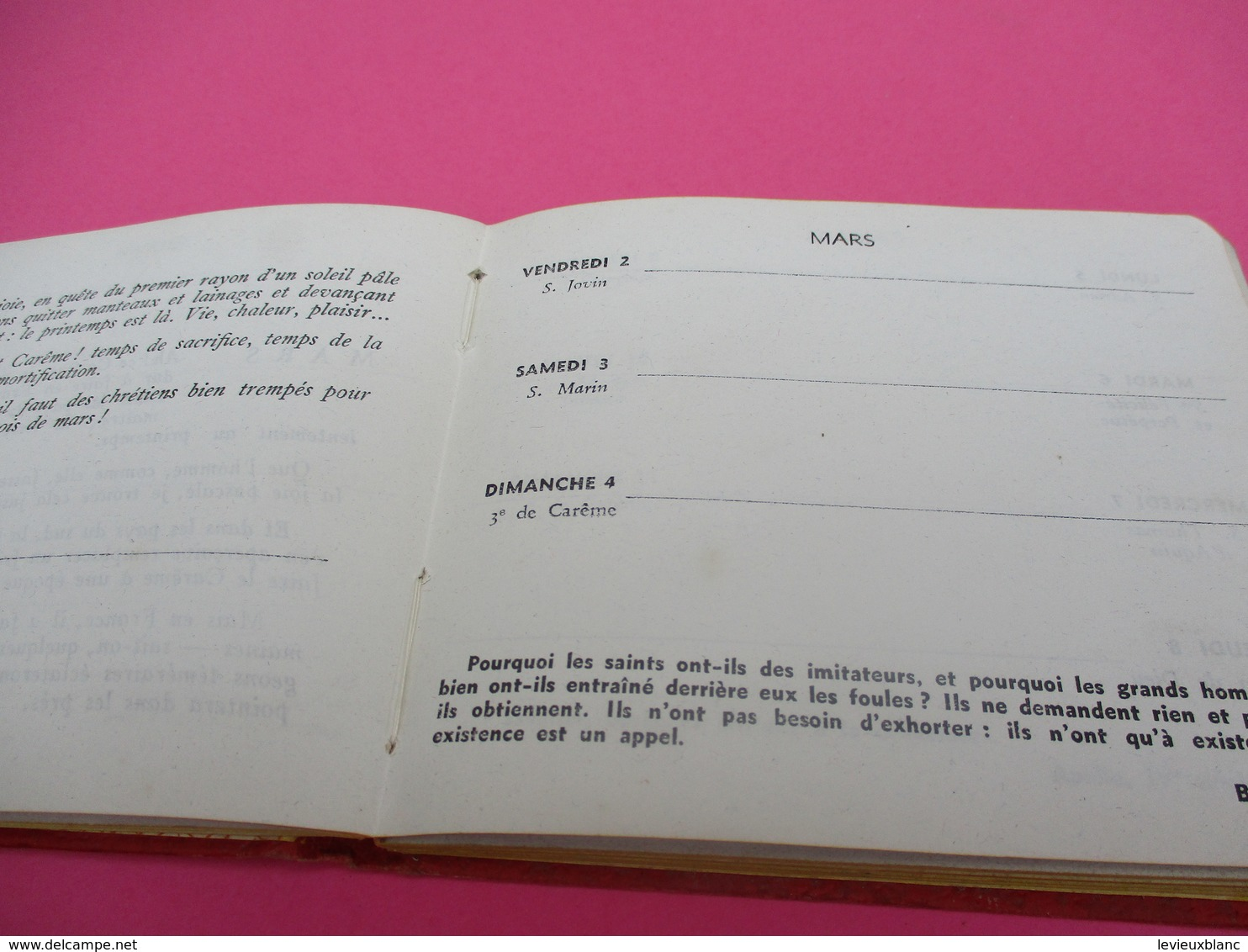 Education/Carnet Scolaire Calendrier/ Enseignement Catholique/Emploi Du Temps/JECF/  CAL414 - Calendriers
