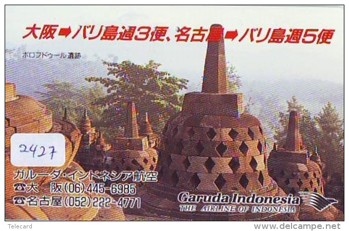 Télécarte  JAPON * GARUDA INDONESIA  (2427)  AVIATION * AIRLINE Phonecard JAPAN  AIRPLANE * FLUGZEUG - Avions