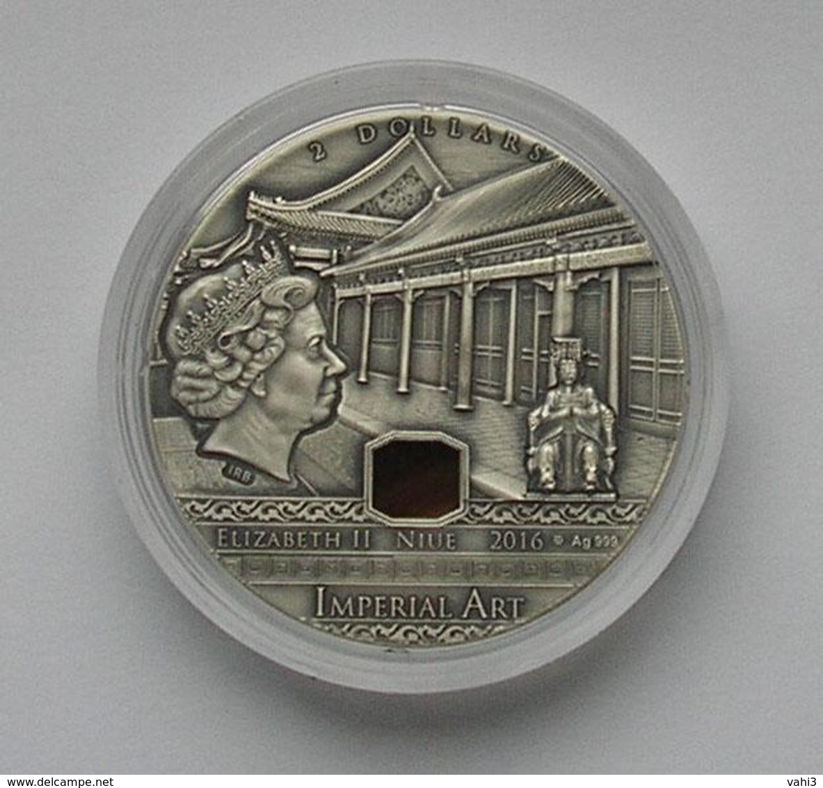 Niue 2 Dollars 2016 China Imperial Art Crystal 2 Oz  Silver Coin - Monnaies