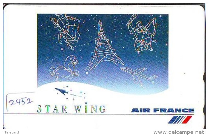 Télécarte  JAPON * AIR FRANCE (2452) * AVIATION * AIRLINE Phonecard  JAPAN AIRPLANE * FLUGZEUG - Avions