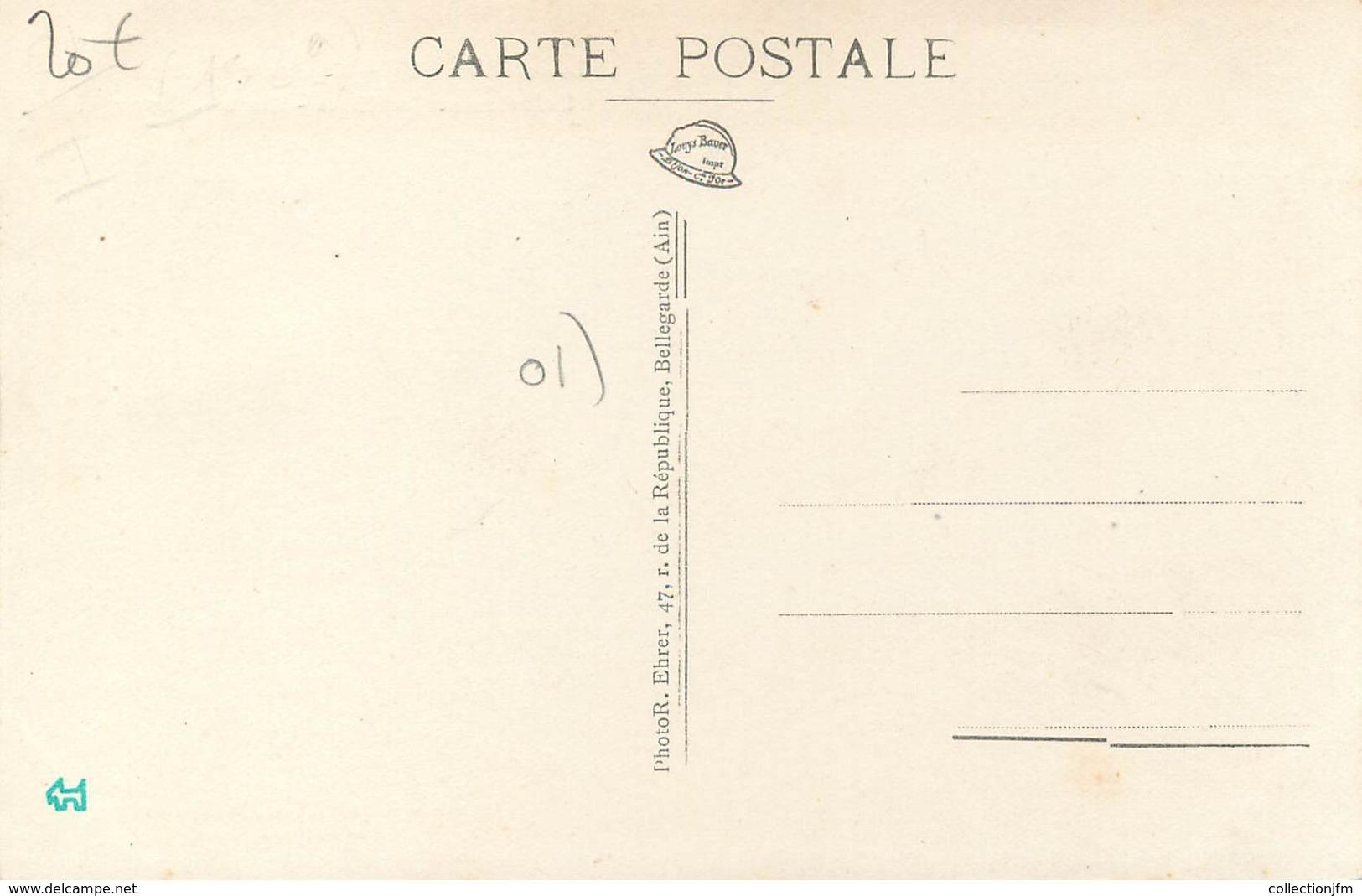 "/ CPA FRANCE 01 ""Lalleyriat, Scieries Et Cantines, Maison Bourgeois"" - Francia"