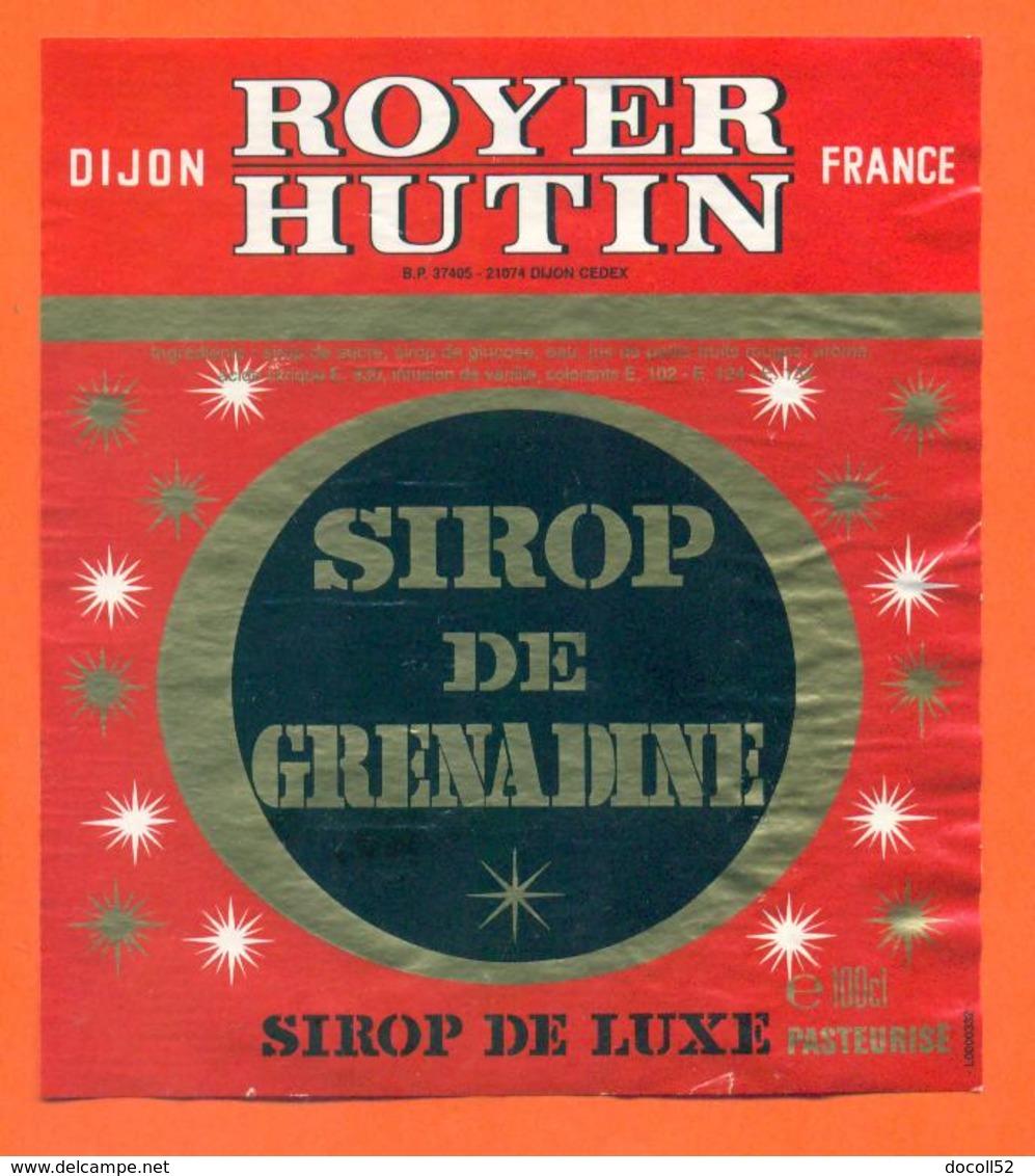 étiquette Sirop De Grenadine Royer Hutin à Dijon - 100 Cl - Fruits & Vegetables