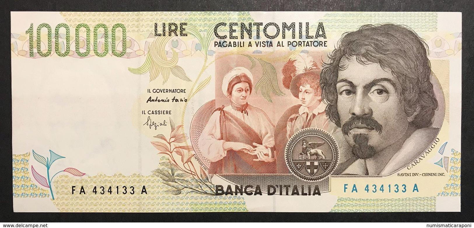100000 Lire CARAVAGGIO 2° TIPO SERIE A 1994 Spl+ LOTTO 2332 - 100.000 Lire