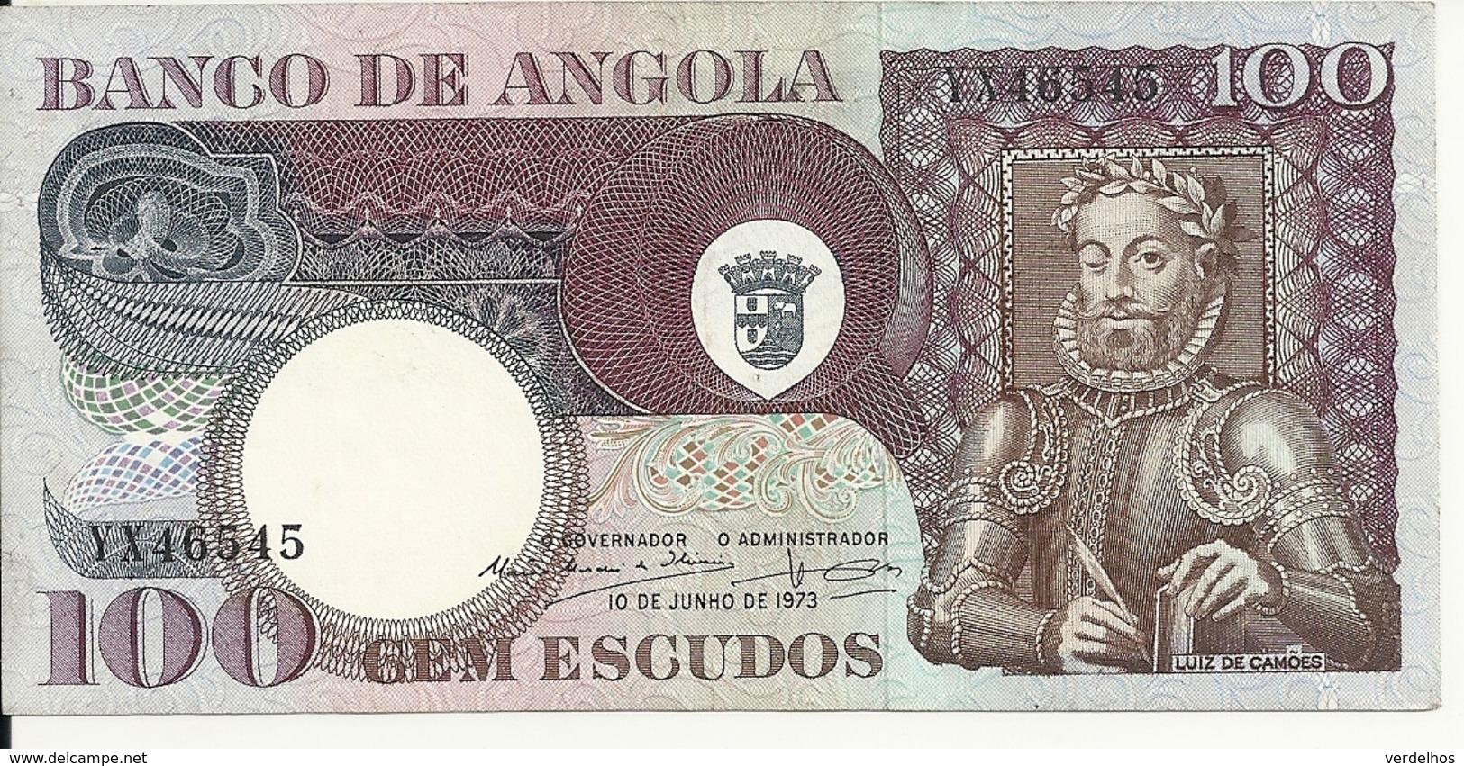 ANGOLA 100 ESCUDOS 1973 AUNC P 106 - Angola