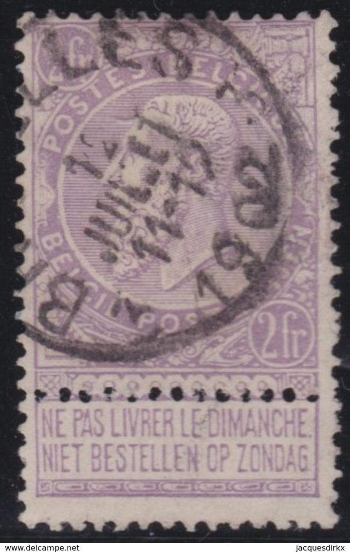 Belgie       .       OBP    .     66          .         O         .    Gebruikt   .     /      .       Oblitéré - 1893-1900 Schmaler Bart
