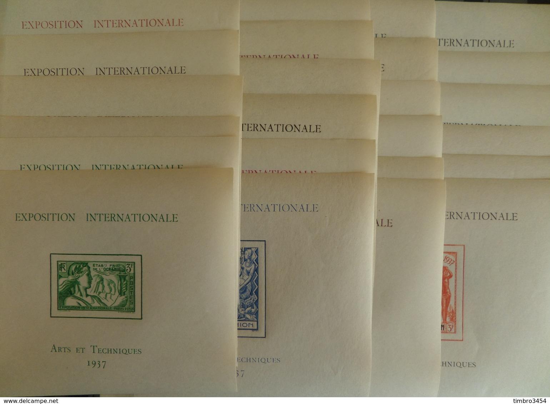Grande Série Coloniale 1937 Expo De Paris Les 24 Blocs-feuillets  Neufs ** MNH. TB. A Saisir! - 1937 Exposition Internationale De Paris