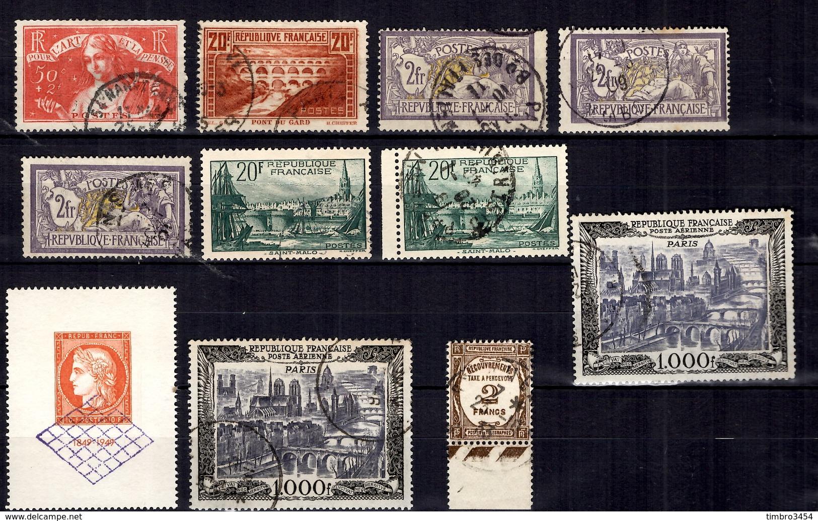 France Belle Petite Collection De Bonnes Valeurs Oblitérées 1900/1950. B/TB. A Saisir! - Collections
