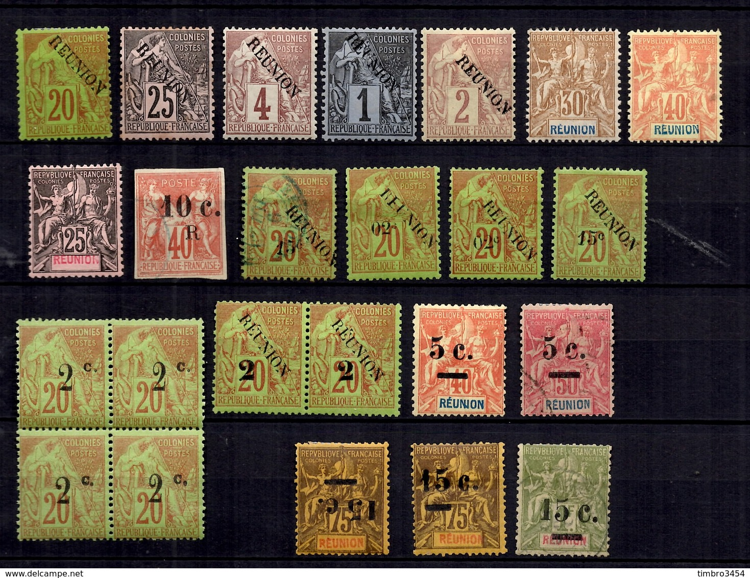 Réunion Belle Petite Collection D'anciens 1885/1901. Bonnes Valeurs. B/TB. A Saisir! - Neufs