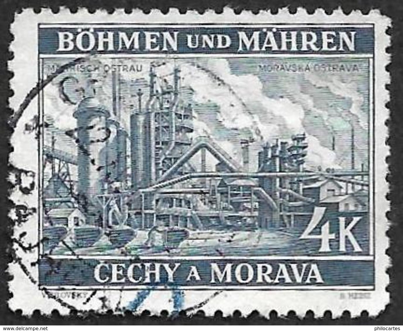 Bohême Et Moravie  1940 - YT 34  - Oblitéré - Bohemia & Moravia