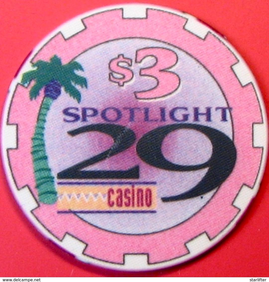 $3 Casino Chip. Spotlight 29, Coachella, CA. M81. - Casino