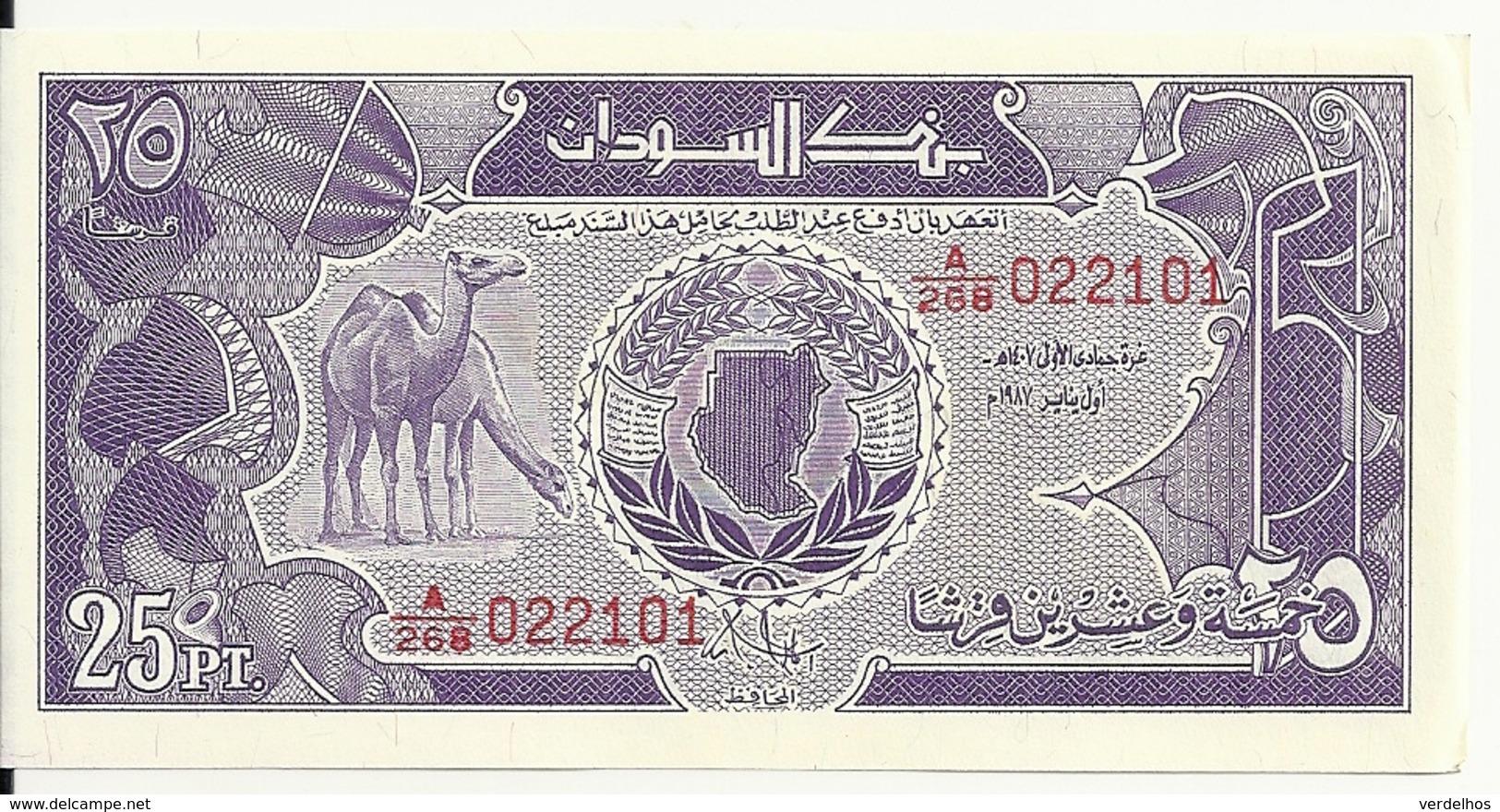 SOUDAN 25 PIASTRES 1985 AUNC P 37 - Soudan