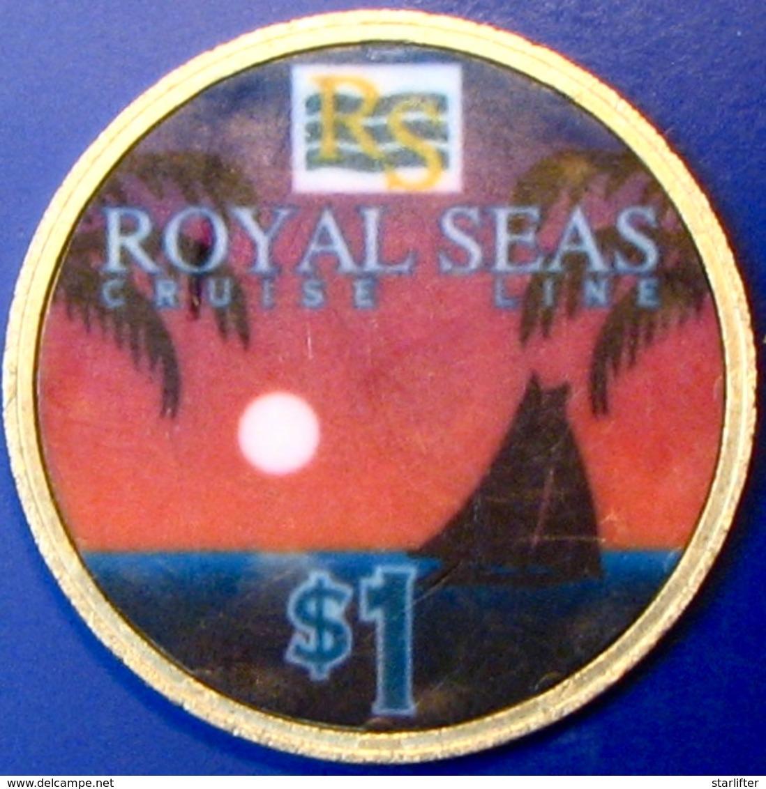 $1 Casino Chip. Royal Seas Cruise Line. M85. - Casino