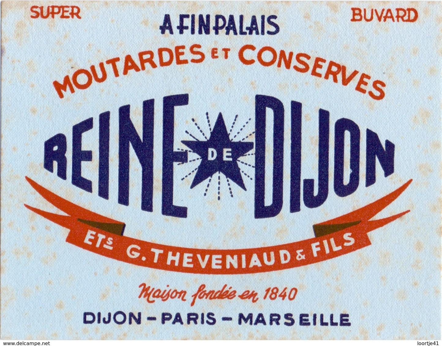 Vloeipapier Buvard - Moutarde Mosterd - Reine De Dijon - Ets G. Theveniaud & Fils - Moutardes