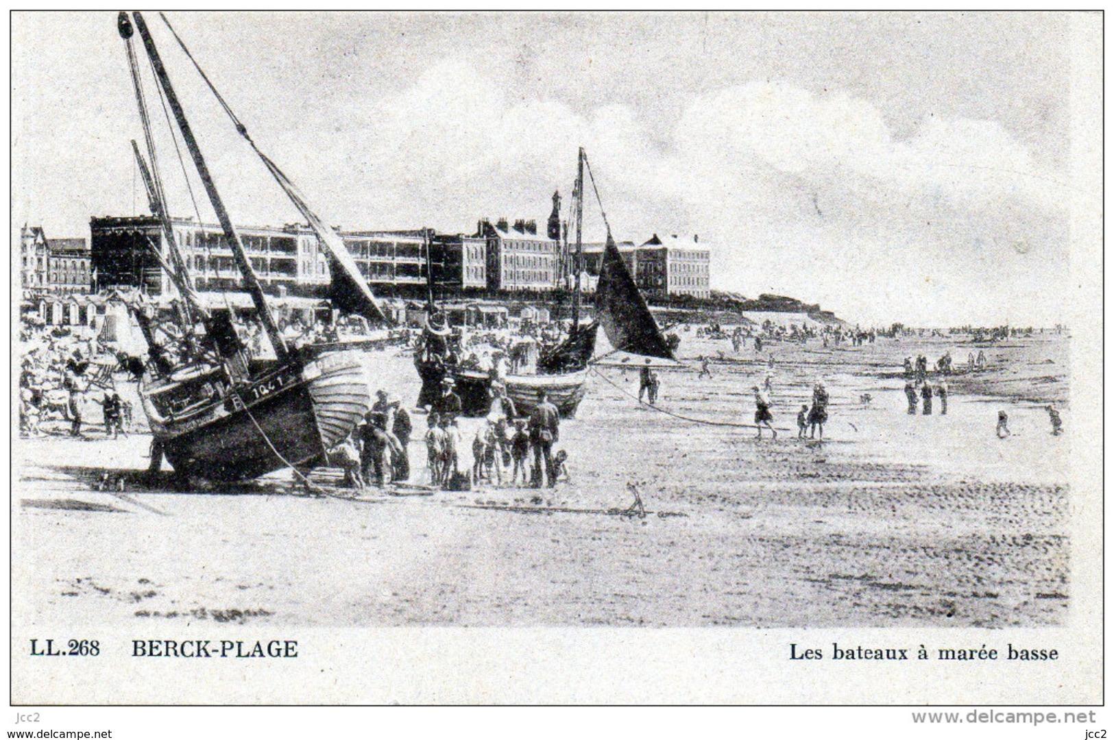 62-BERK PLAGE - Les Bateaux A Marée  Basse - Berck