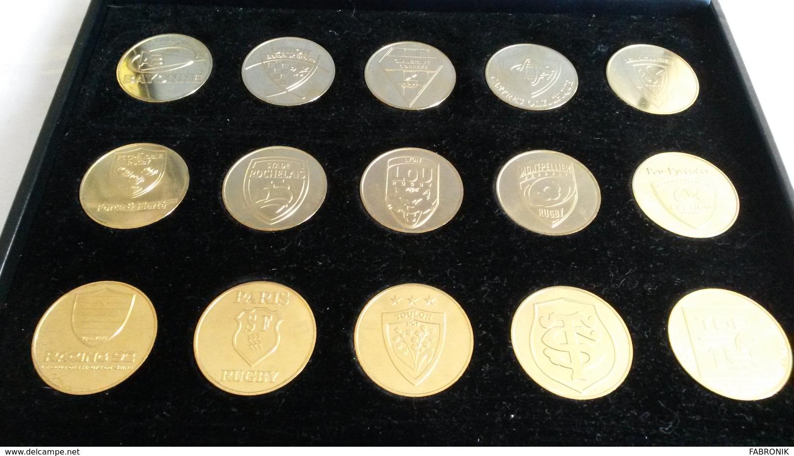 COFFRET DES 14 CLUBS MONNAIE DE PARIS TOP 14 RUGBY - Monnaie De Paris