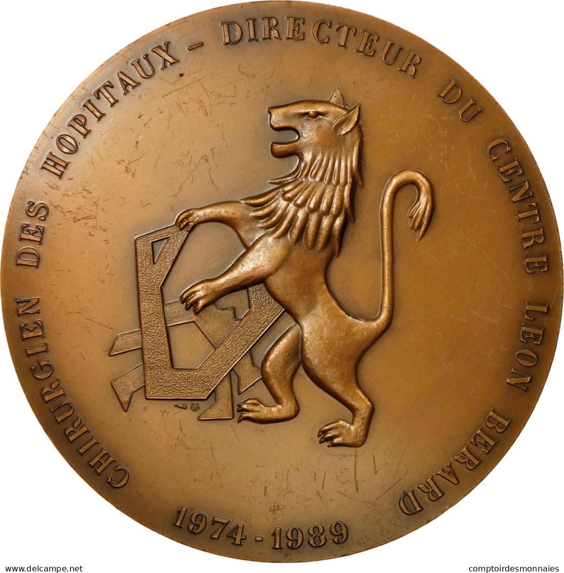 France, Médaille, Médecine, Professeur Marcel Mayer, 1989, TTB+, Bronze - France