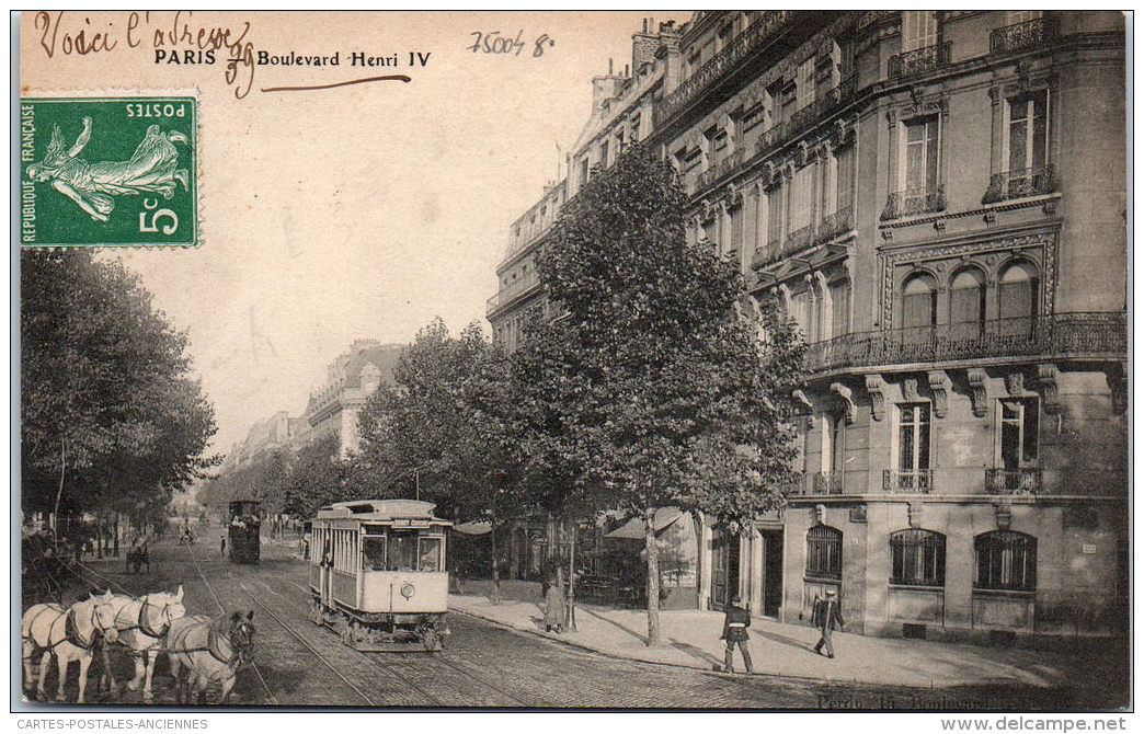 75004 PARIS - Le Boulevard Henri IV - Arrondissement: 04
