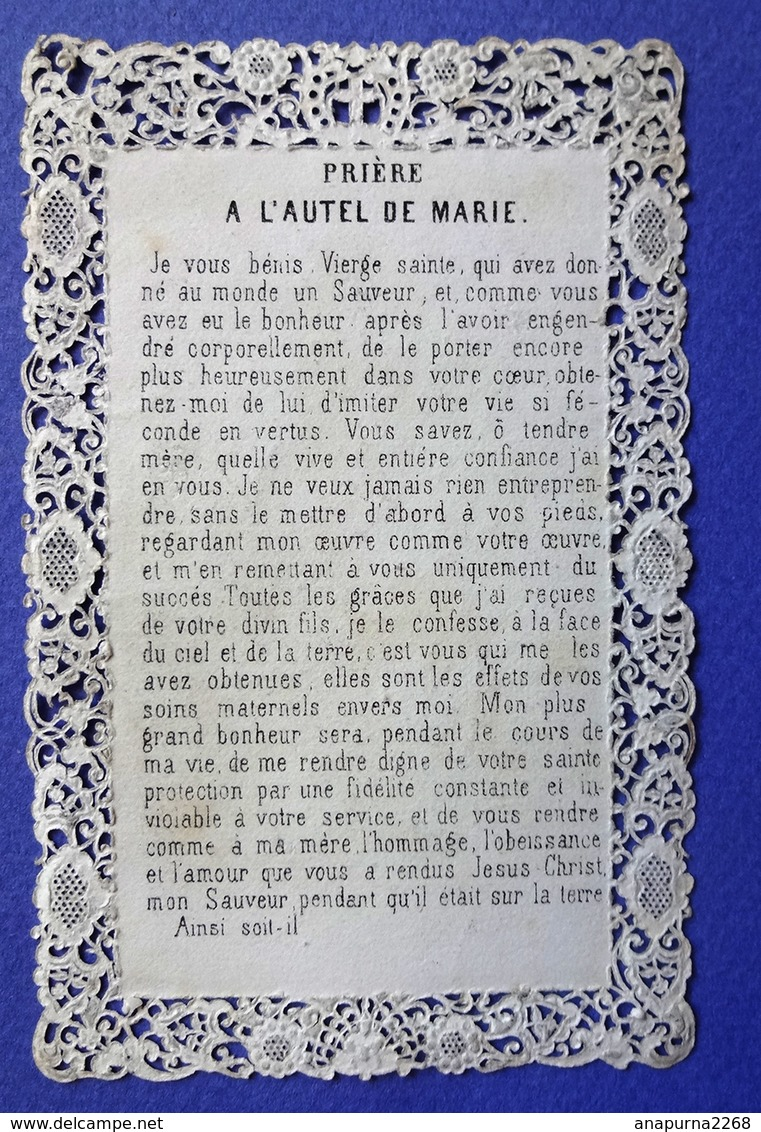 IMAGE PIEUSE  CANIVET    ED .DOPTER  PRIERE A  MARIE NOTRE MÈRE - Imágenes Religiosas