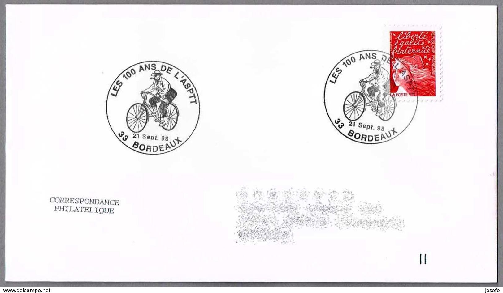 100 Años ASPTT (Assoc.Sportive Postes Et Telegraphes) - CARTERO - POSTMAN. Bordeaux 1998 - Correo Postal