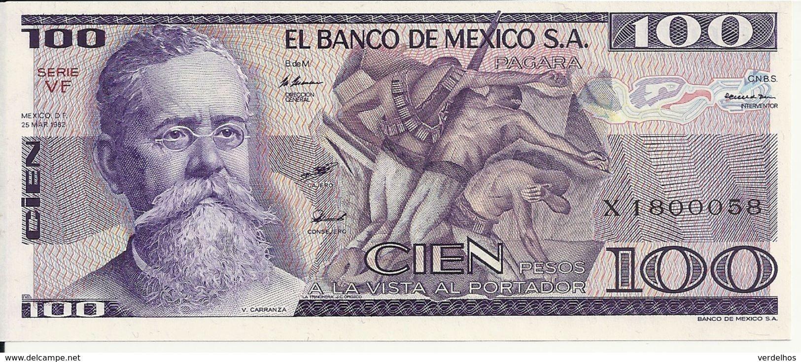 MEXIQUE 100 PESOS 1982 UNC P 74 C - Mexique