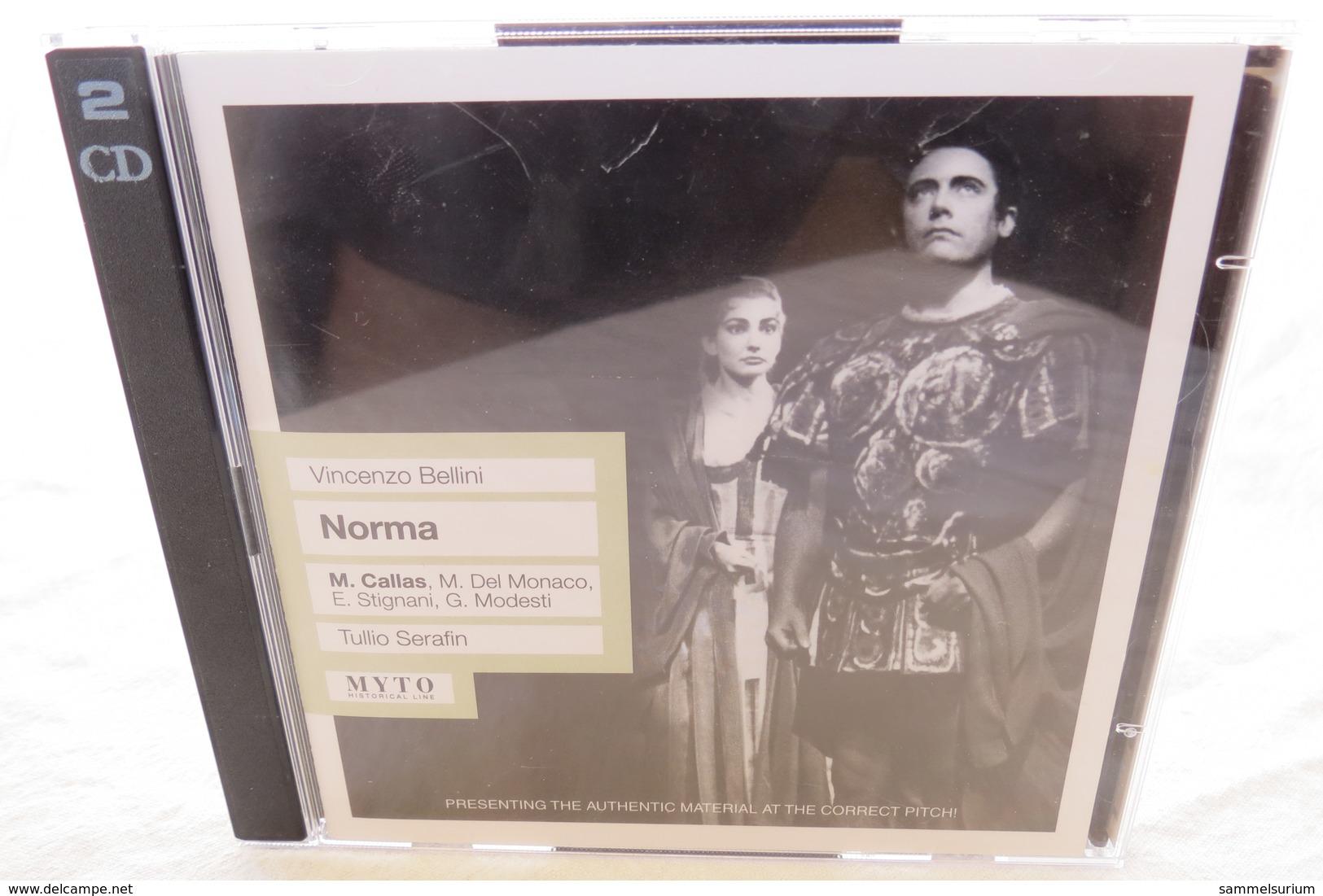 """2 CDs """"Vincenzo Bellini - Norma"""" M. Callas, Tullio Serafin - Oper & Operette"""