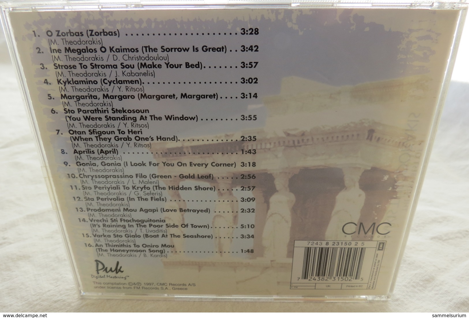 """CD """"Mikis Theodorakis"""" The Very Best Of - Hit-Compilations"""