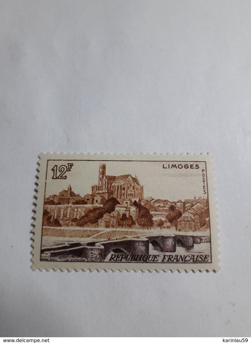 Timbre France 1955 - VUE DE LIMOGES - N°1019 NEUF - France
