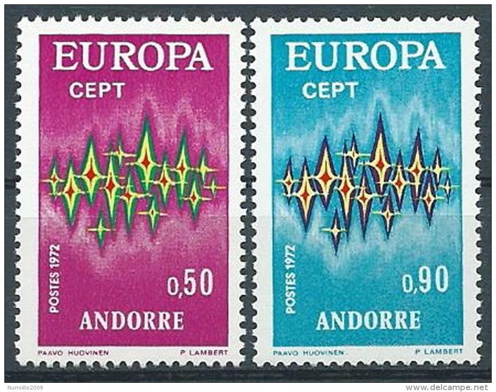 1972 EUROPA ANDORRA FRANCESE MNH ** - EV-4 - Europa-CEPT