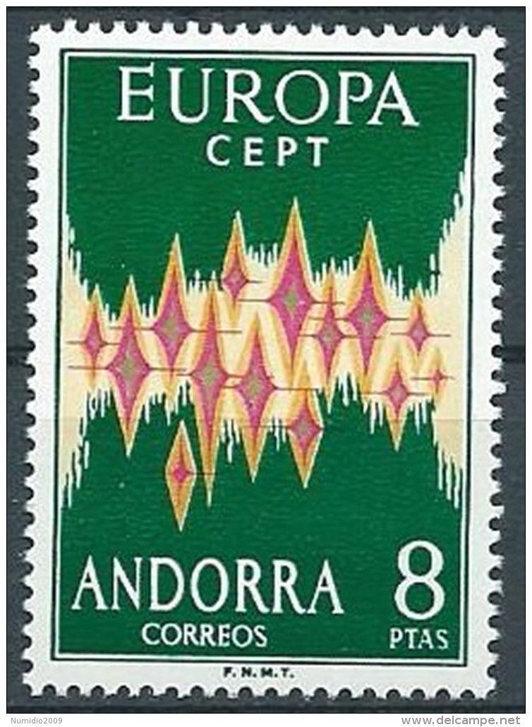 1972 EUROPA ANDORRA SPAGNOLA MNH ** - EV - 1972