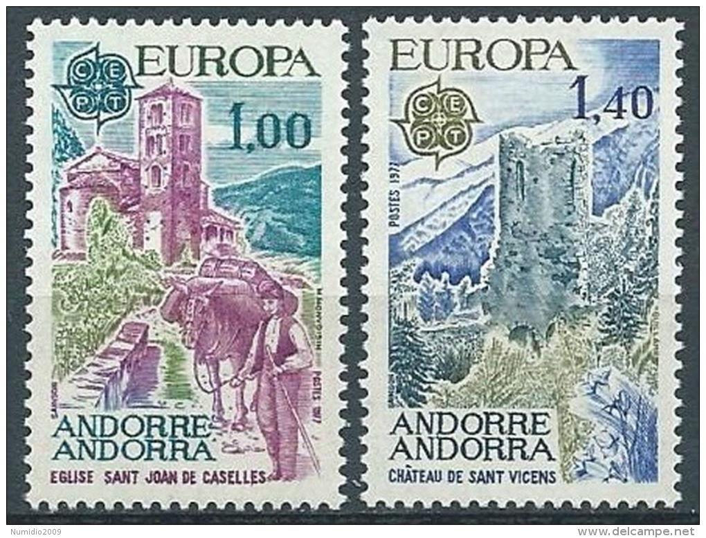 1977 EUROPA ANDORRA FRANCESE MNH ** - EV - 1977