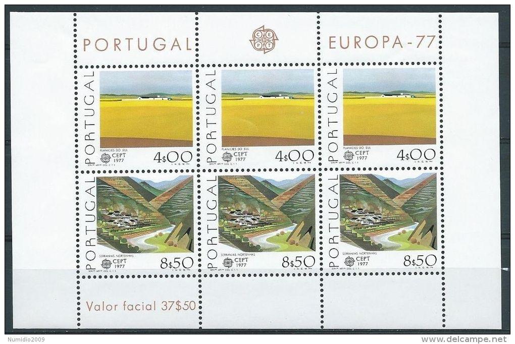 1977 EUROPA PORTOGALLO FOGLIETTO MNH ** - EV - Europa-CEPT