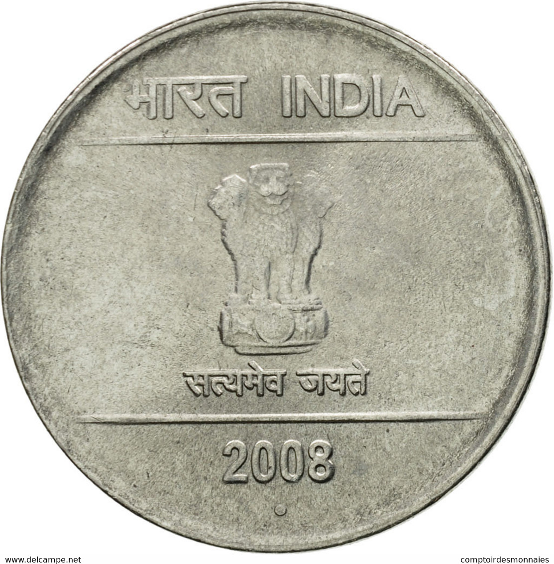 Monnaie, INDIA-REPUBLIC, 2 Rupees, 2008, TTB, Stainless Steel, KM:327 - Inde