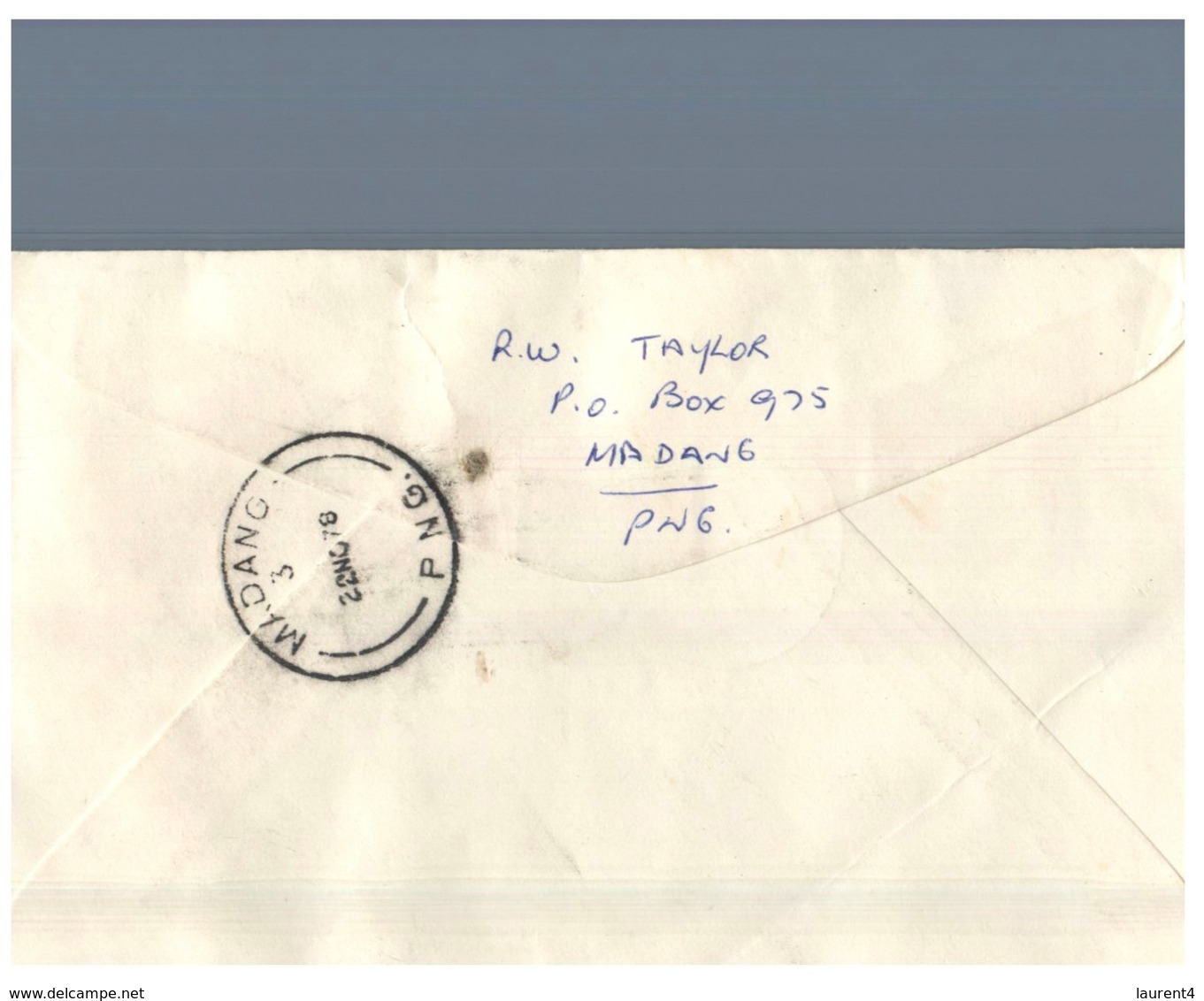 (155) Papua New Guinea To Australia QLD - FDC Letter - 1978 - Madang Postmark At Back Of Letter - Papouasie-Nouvelle-Guinée