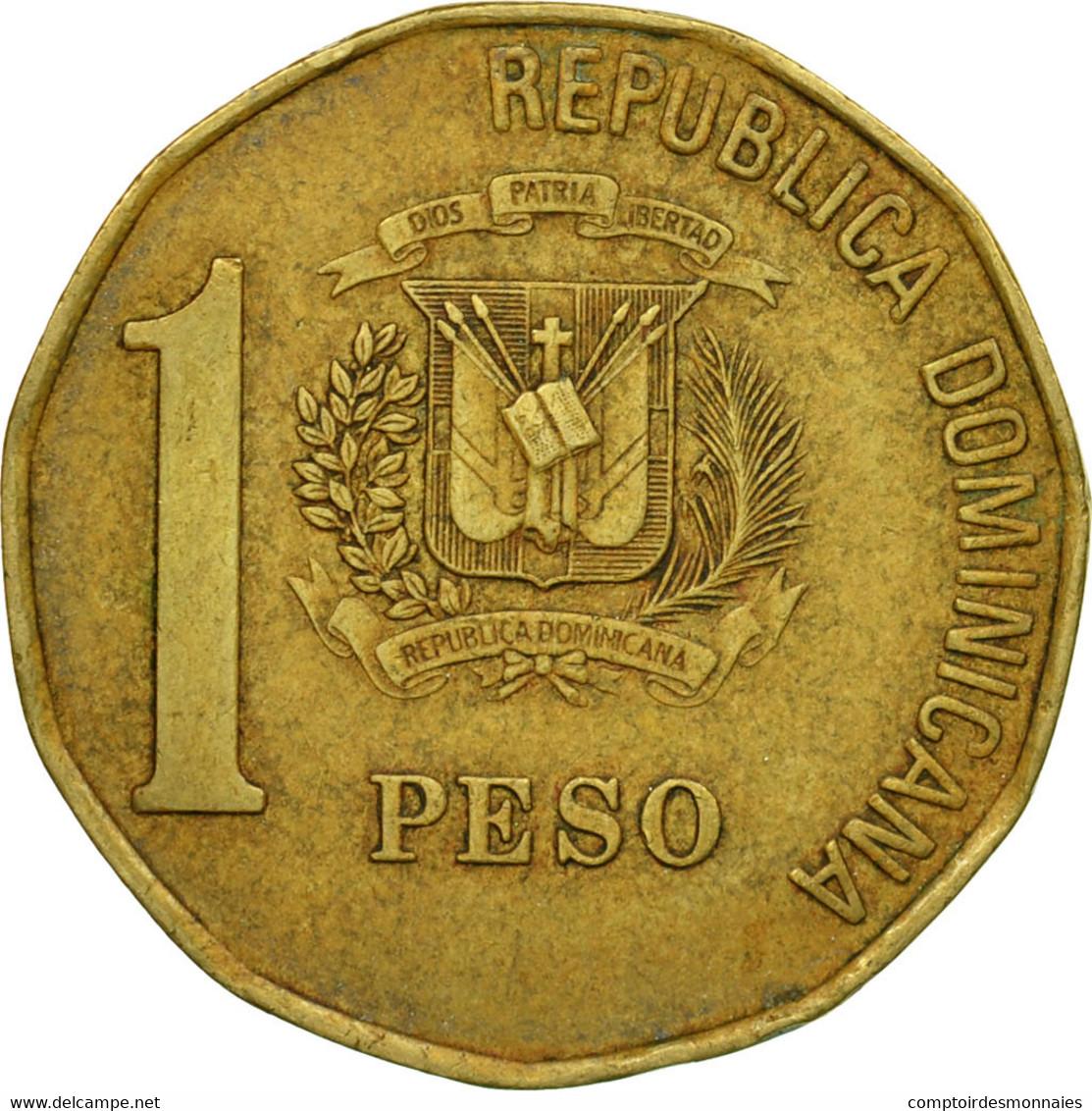 Monnaie, Dominican Republic, Peso, 2002, TTB, Laiton, KM:80.2 - Dominicaine