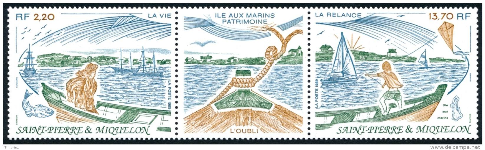 ST-PIERRE ET MIQUELON 1989 - Yv. 509A Tryptique **   Faciale= 2,42 EUR - L'île Aux Marins  ..Réf.SPM11363 - St.Pierre Et Miquelon