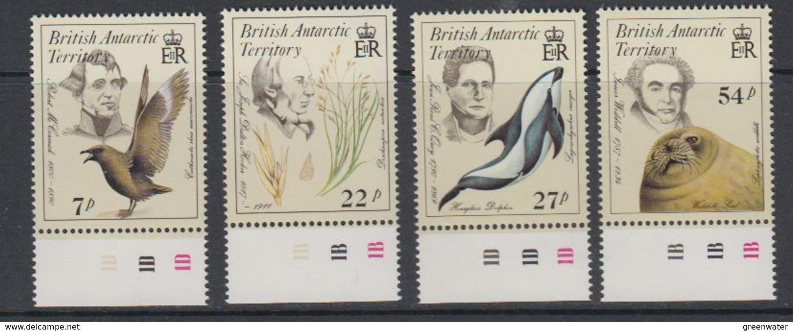 British Antarctic Territory (BAT) 1985 Early Naturalists 4v (+margin)  ** Mnh (40563) - Ongebruikt