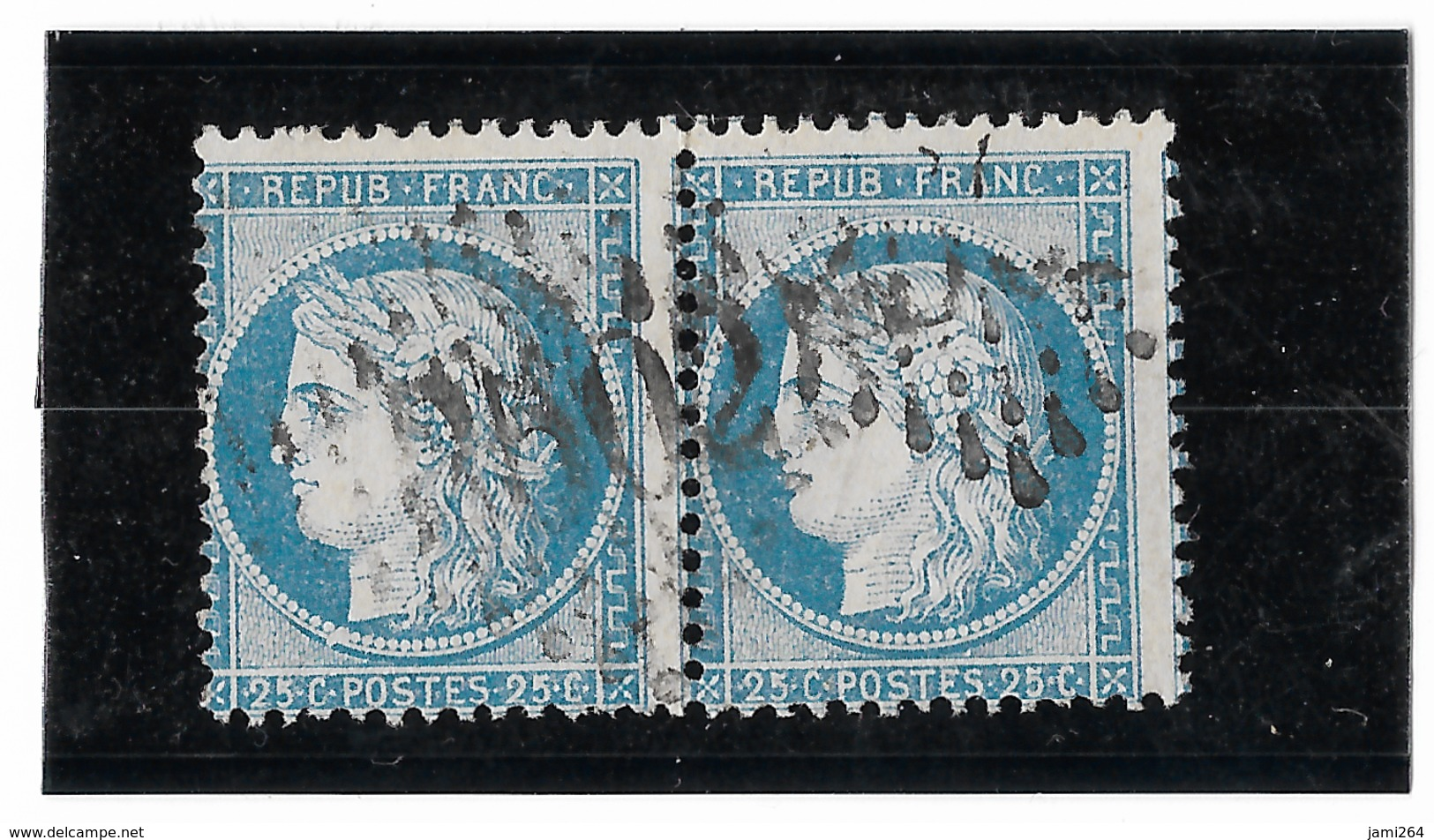 TIMBRES N°60/1  ; PAIRE  52/53 G3  ASSEZ RARE, TB - 1871-1875 Cérès