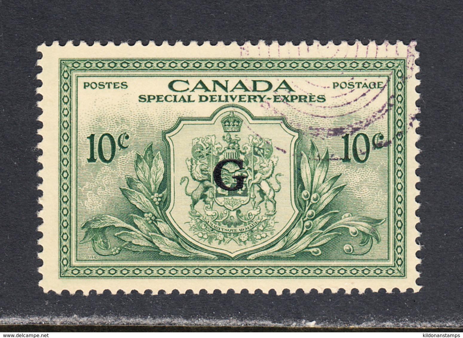 Canada 1950 Official, Special Delivery, Cancelled, Sc# E02, SG OS21 - Officials