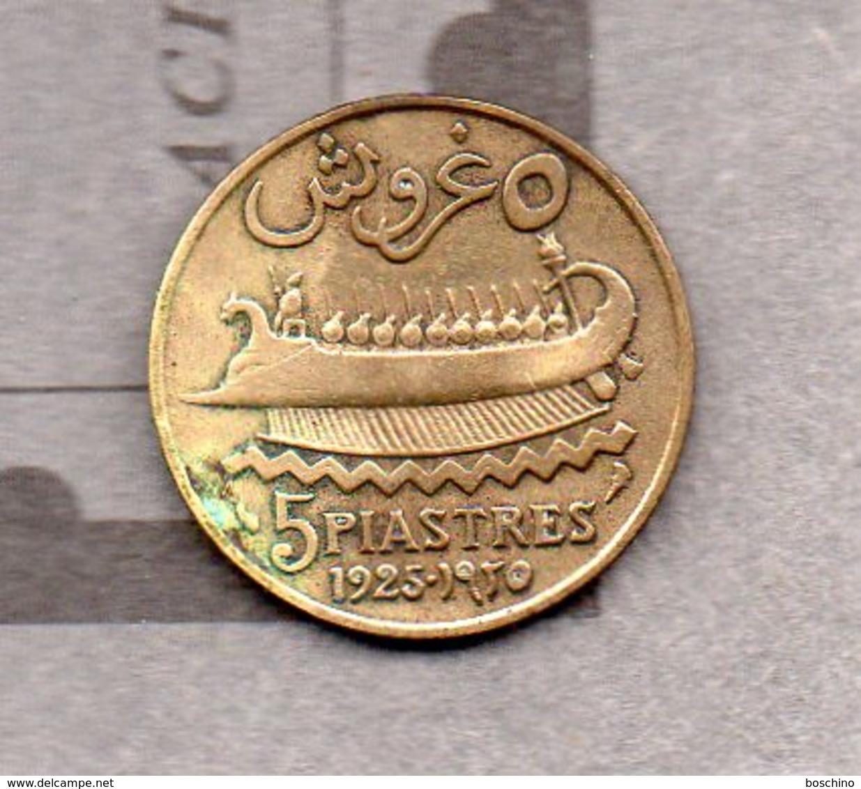 Etat Du Grand Liban - 5 Piastres 1925 - Liban