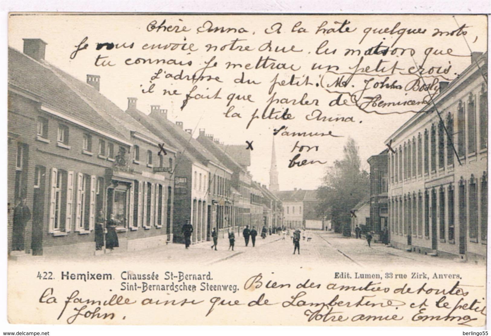 Hemixem - Sint-Bernardsche Steenweg  1904 (Geanimeerd) - Hemiksem